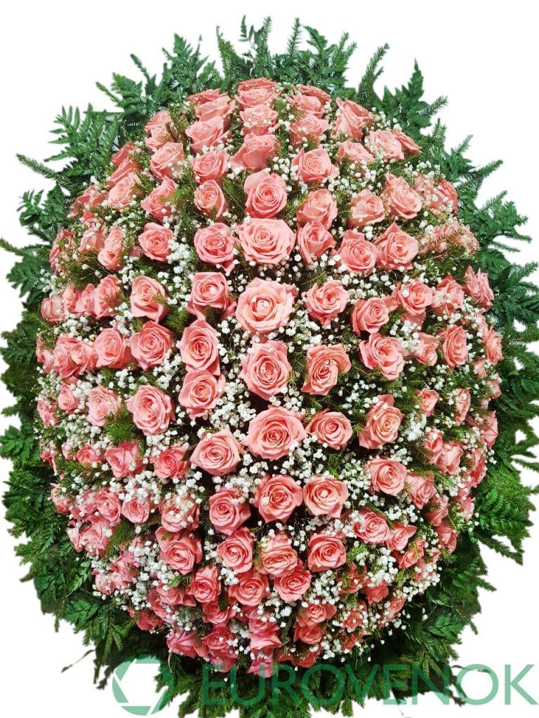 Венок из живых цветов №2-1