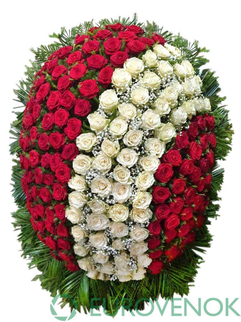 Венок из живых цветов №20-1