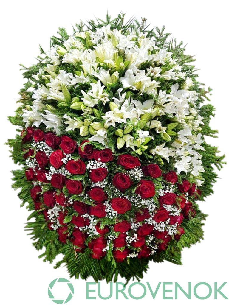 Венок из живых цветов №21-1