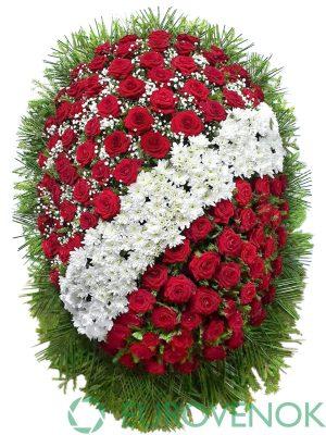 Венок из живых цветов №22-1