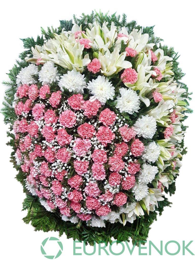 Венок из живых цветов №23-1