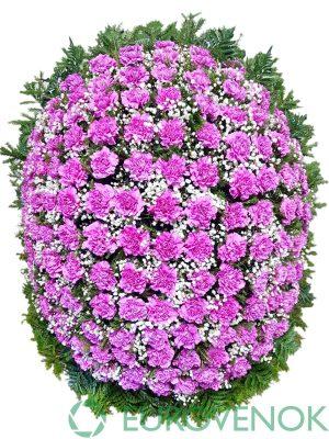 Венок из живых цветов №24-1