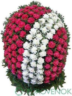 Венок из живых цветов №25-1