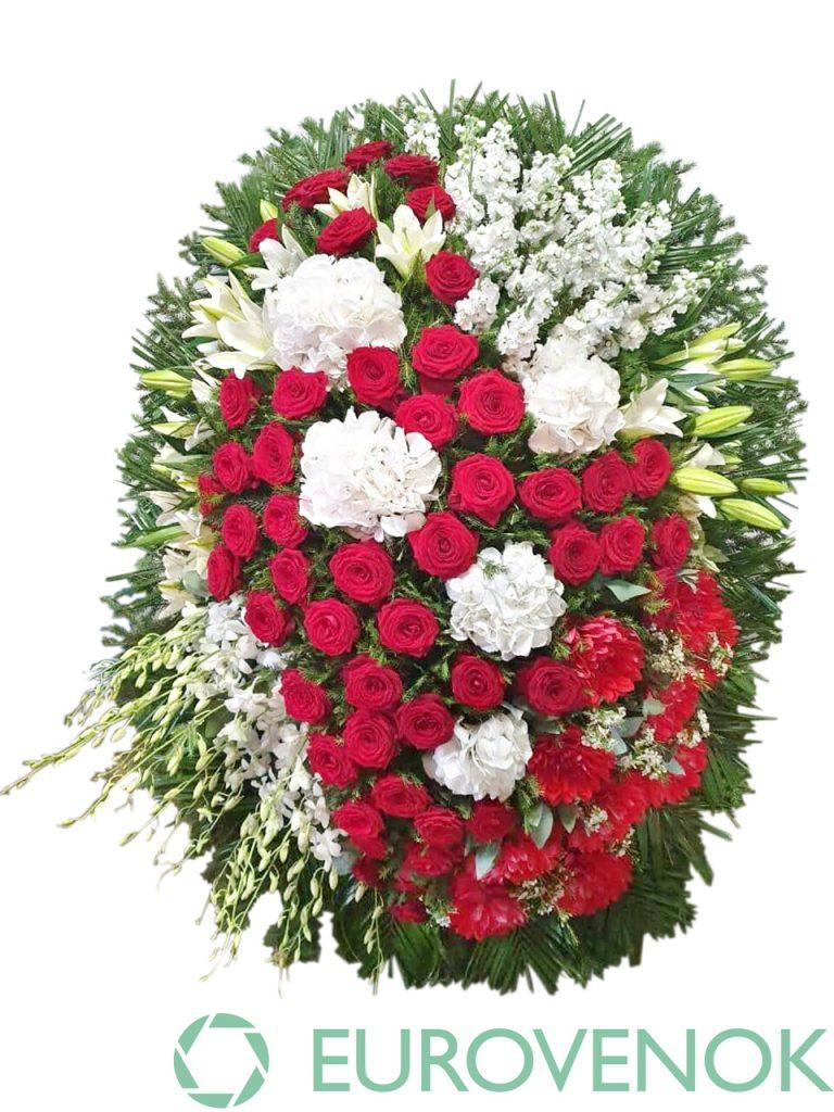 Венок из живых цветов №26-1