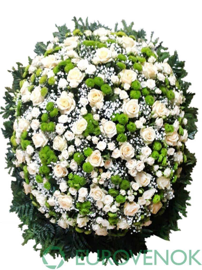 Венок из живых цветов №33-1