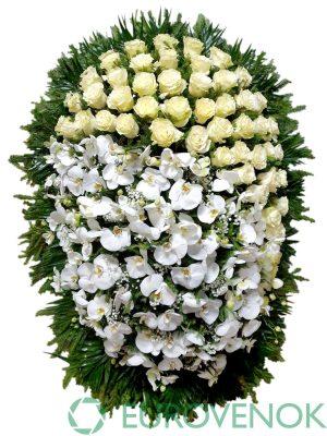 Венок из живых цветов №34-1