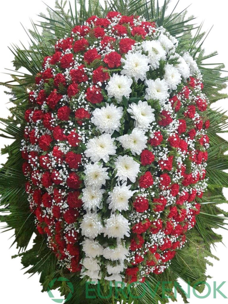 Венок из живых цветов №36-1