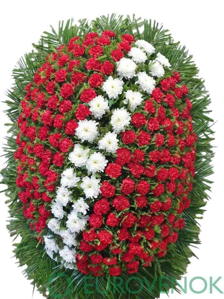 Венок из живых цветов №38-1