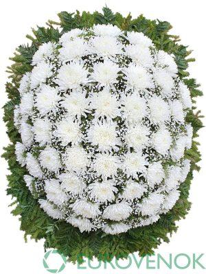 Венок из живых цветов №39-1