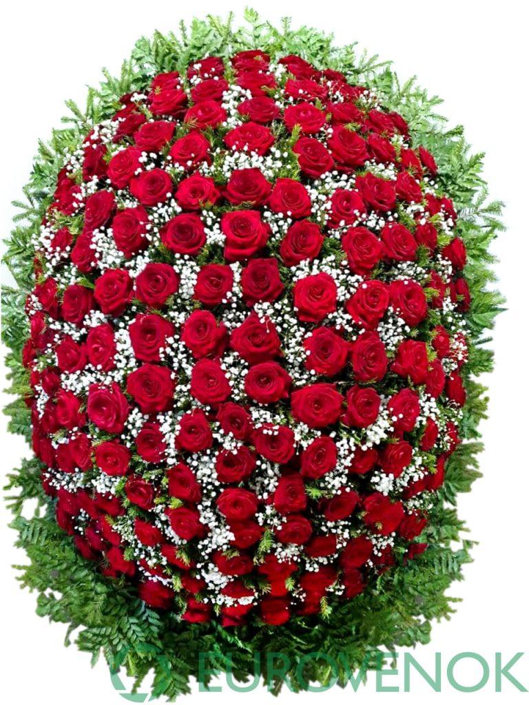 Венок из живых цветов №5-1