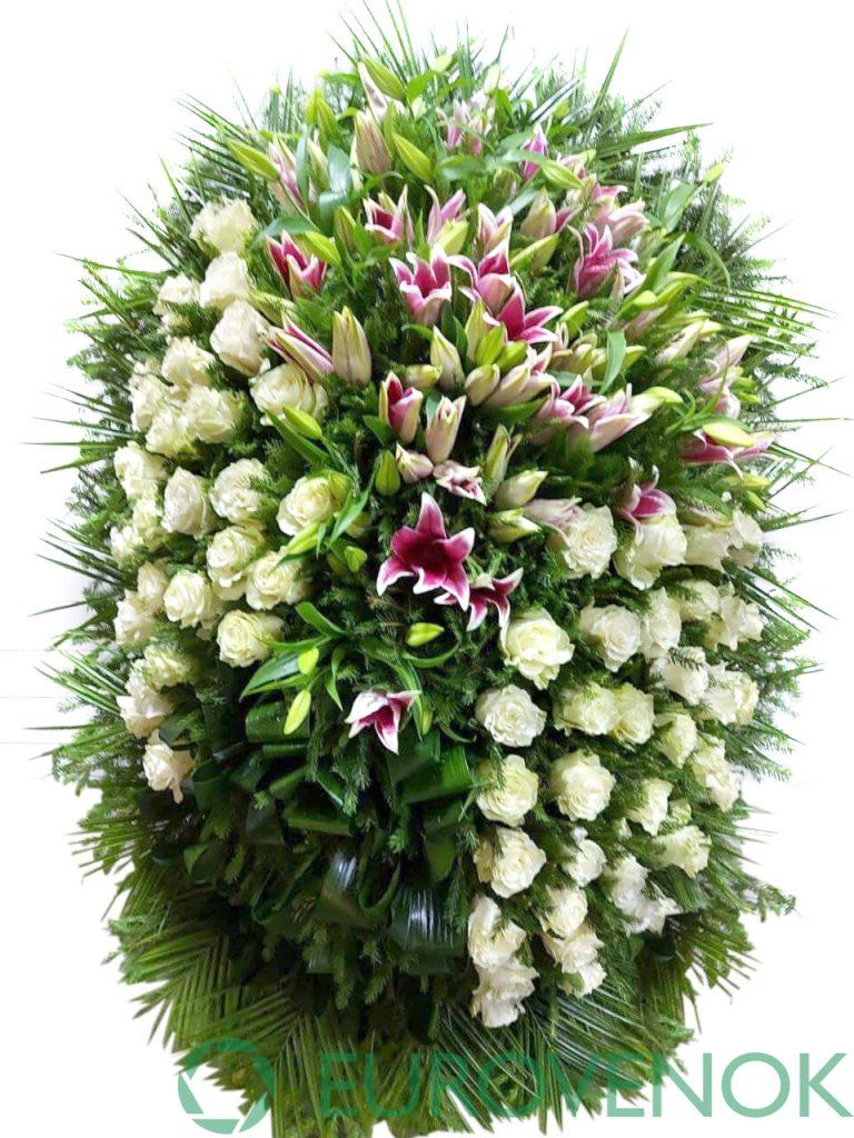 Венок из живых цветов №07-1