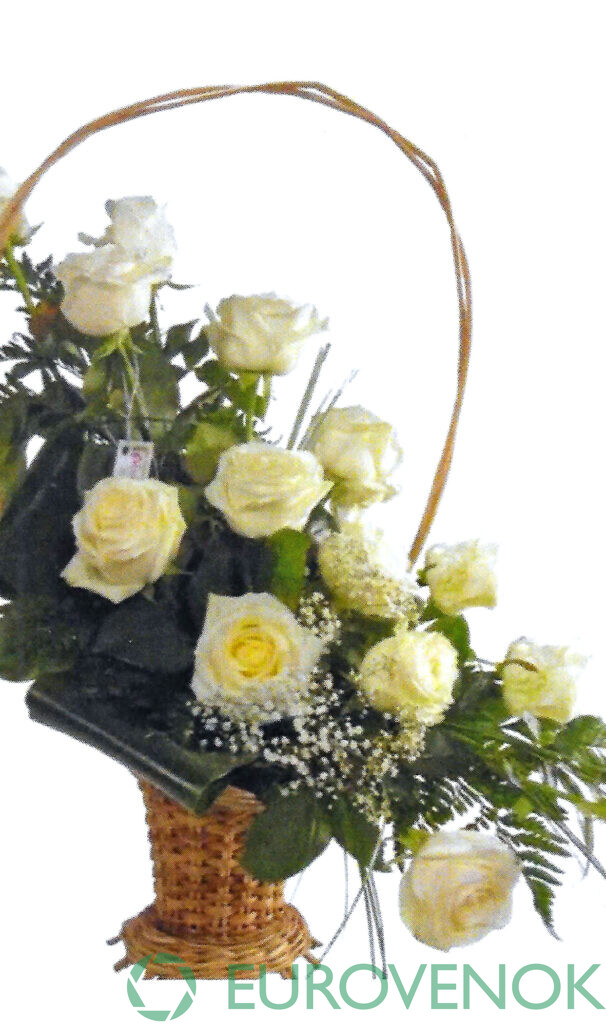 Корзина из живых цветов №81