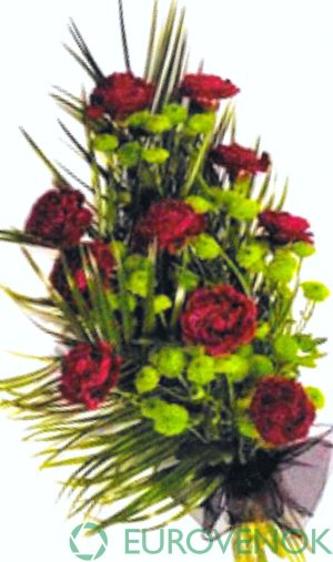 Траурные букеты из живых цветов №111