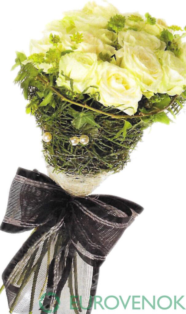 Траурные букеты из живых цветов №112