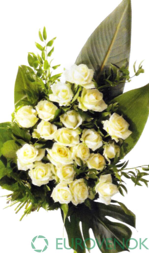 Траурные букеты из живых цветов №113