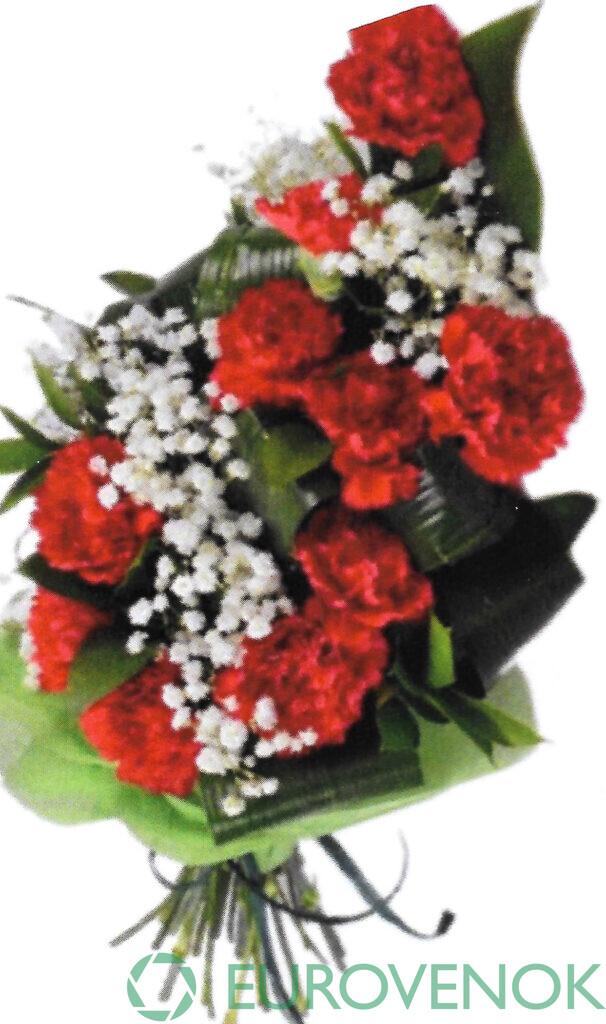 Траурные букеты из живых цветов №114