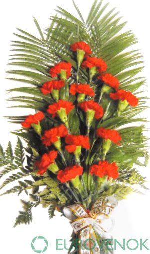 Траурные букеты из живых цветов №115