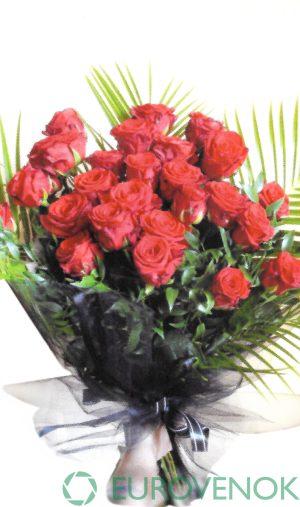 Траурные букеты из живых цветов №116