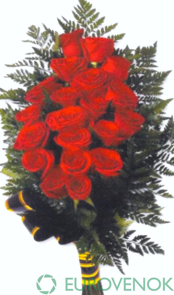 Траурные букеты из живых цветов №117