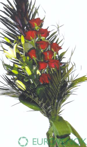 Траурные букеты из живых цветов №118