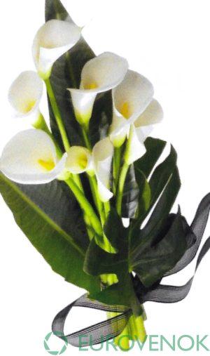 Траурные букеты из живых цветов №120