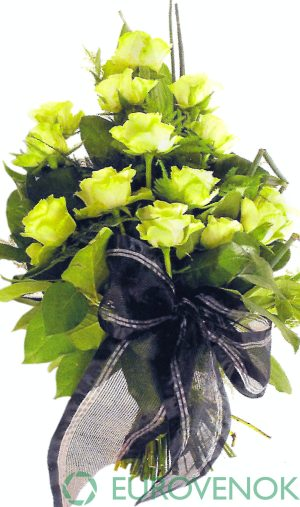 Траурные букеты из живых цветов №123