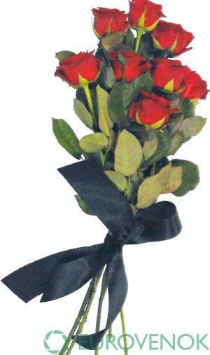 Траурные букеты из живых цветов №124