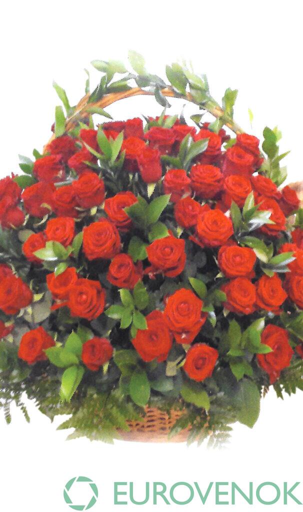 Корзина из живых цветов №87