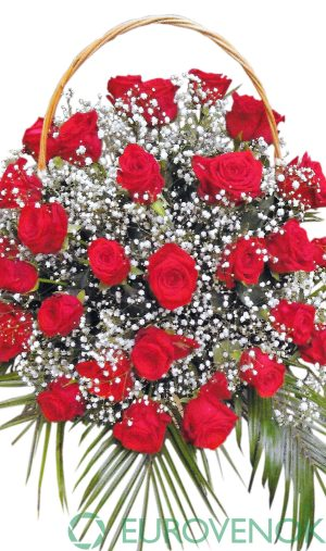 Корзина из живых цветов №92