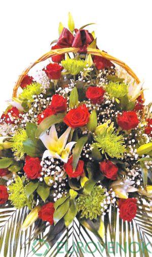 Корзина из живых цветов №93