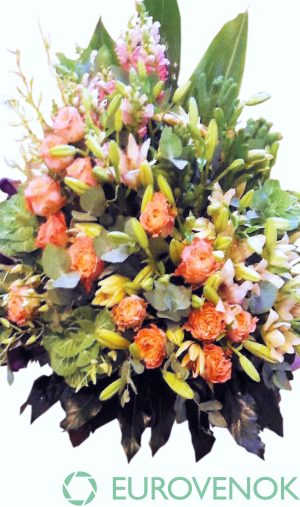 Корзина из живых цветов №94
